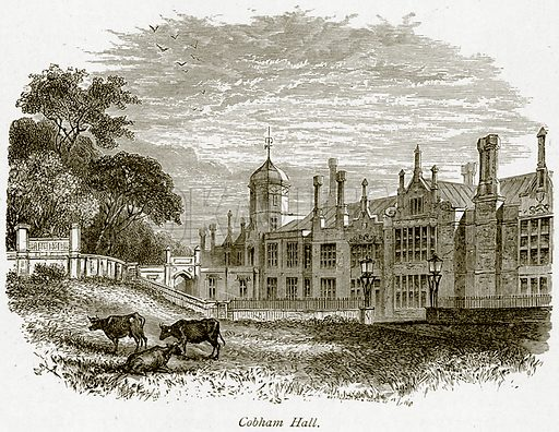 Cobham Hall. Illustration from The Stately Homes of England by Llewellynn Jewitt and SC Hall (Virtue, 1877).