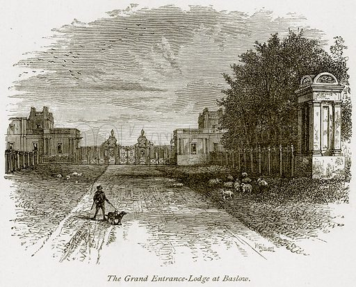 The Grand Entrance-Lodge at Baslow. Illustration from The Stately Homes of England by Llewellynn Jewitt and SC Hall (Virtue, 1877).