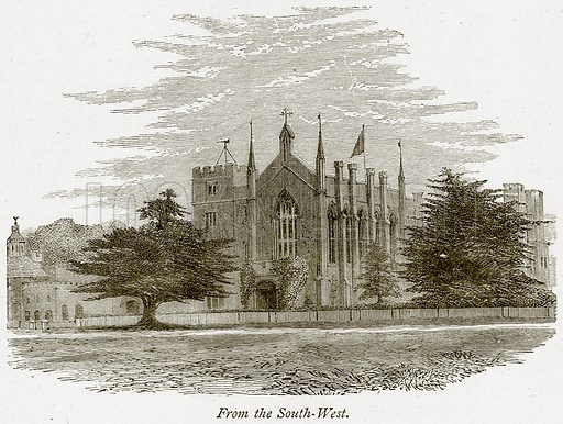 From the South-West. Illustration from The Stately Homes of England by Llewellynn Jewitt and SC Hall (Virtue, 1877).