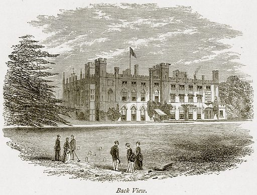 Back View. Illustration from The Stately Homes of England by Llewellynn Jewitt and SC Hall (Virtue, 1877).