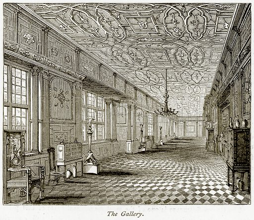 The Gallery. Illustration from The Stately Homes of England by Llewellynn Jewitt and SC Hall (Virtue, 1877).