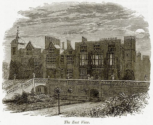 The East View. Illustration from The Stately Homes of England by Llewellynn Jewitt and SC Hall (Virtue, 1877).