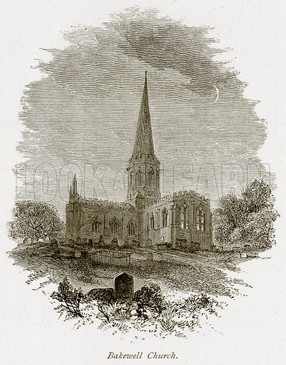 Bakewell Church. Illustration from The Stately Homes of England by Llewellynn Jewitt and SC Hall (Virtue, 1877).