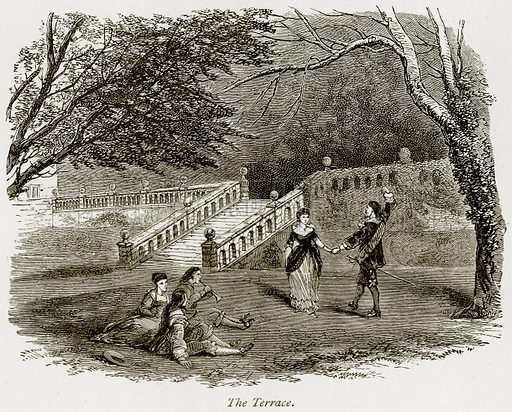 The Terrace. Illustration from The Stately Homes of England by Llewellynn Jewitt and SC Hall (Virtue, 1877).