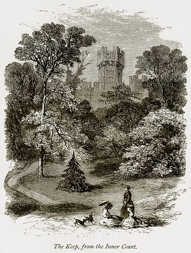 The Keep, from the Inner Court. Illustration from The Stately Homes of England by Llewellynn Jewitt and SC Hall (Virtue, 1877).