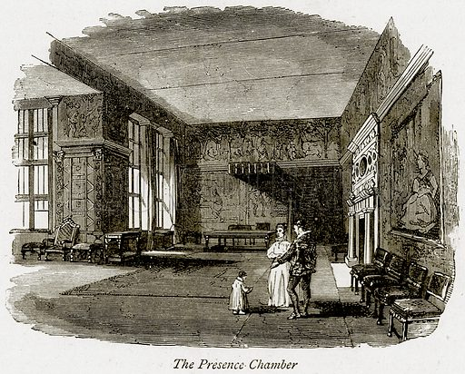 The Presence Chamber. Illustration from The Stately Homes of England by Llewellynn Jewitt and SC Hall (Virtue, 1877).