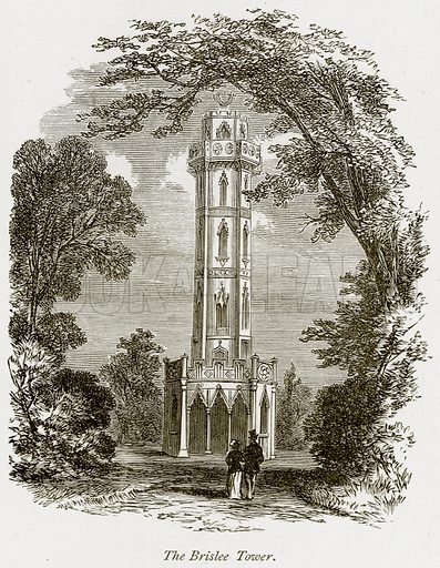 The Brislee Tower. Illustration from The Stately Homes of England by Llewellynn Jewitt and SC Hall (Virtue, 1877).