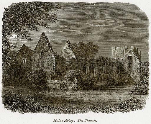 Hulne Abbey: The Church. Illustration from The Stately Homes of England by Llewellynn Jewitt and SC Hall (Virtue, 1877).