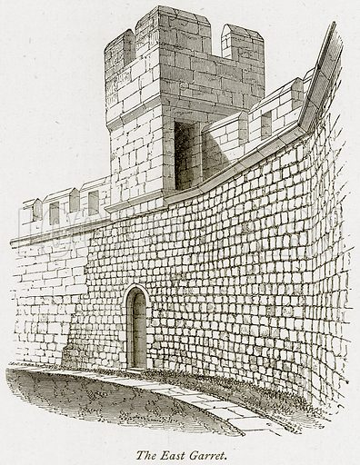 The East Garret. Illustration from The Stately Homes of England by Llewellynn Jewitt and SC Hall (Virtue, 1877).