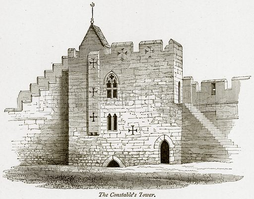 The Constable's Tower. Illustration from The Stately Homes of England by Llewellynn Jewitt and SC Hall (Virtue, 1877).