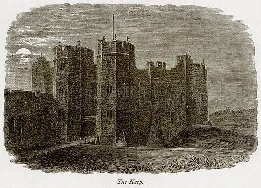The Keep. Illustration from The Stately Homes of England by Llewellynn Jewitt and SC Hall (Virtue, 1877).