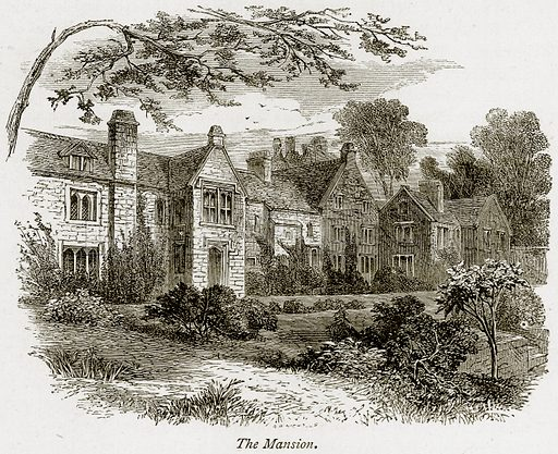 The Mansion. Illustration from The Stately Homes of England by Llewellynn Jewitt and SC Hall (Virtue, 1877).