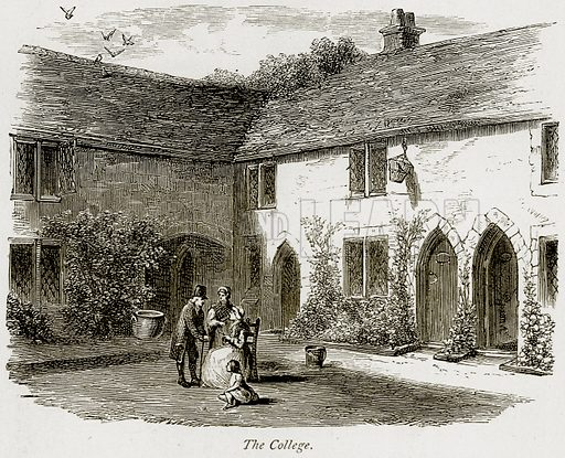 The College. Illustration from The Stately Homes of England by Llewellynn Jewitt and SC Hall (Virtue, 1877).