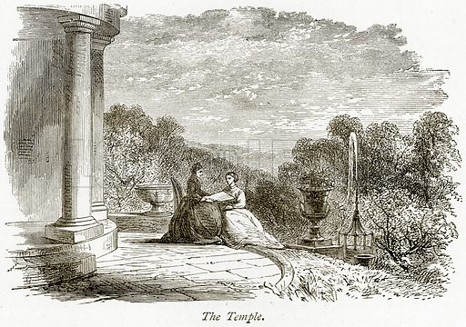 The Temple. Illustration from The Stately Homes of England by Llewellynn Jewitt and SC Hall (Virtue, 1877).