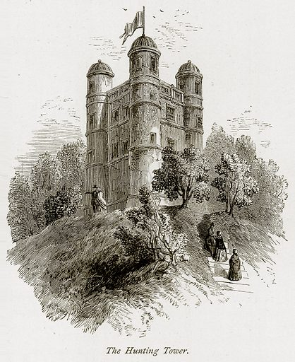 The Hunting Tower. Illustration from The Stately Homes of England by Llewellynn Jewitt and SC Hall (Virtue, 1877).