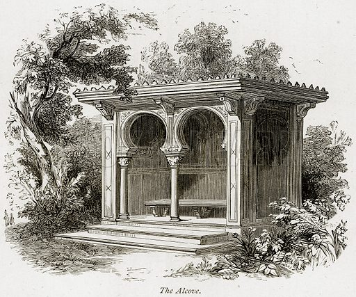 The Alcove. Illustration from The Stately Homes of England by Llewellynn Jewitt and SC Hall (Virtue, 1877).