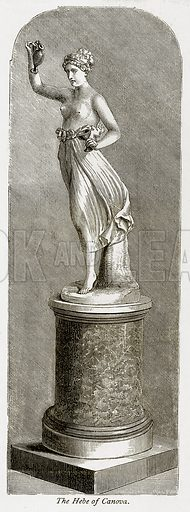 The Hebe of Canova. Illustration from The Stately Homes of England by Llewellynn Jewitt and SC Hall (Virtue, 1877).