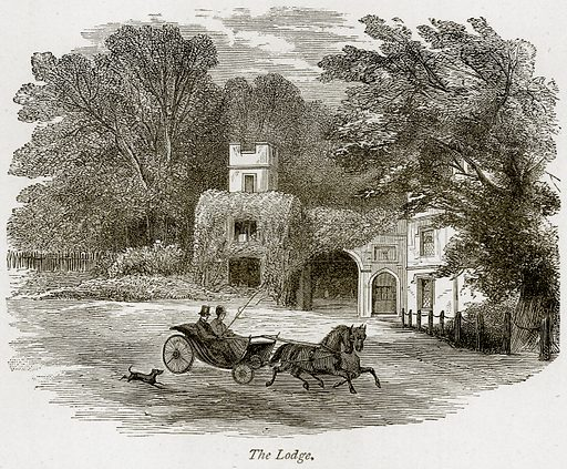 The Lodge. Illustration from The Stately Homes of England by Llewellynn Jewitt and SC Hall (Virtue, 1877).