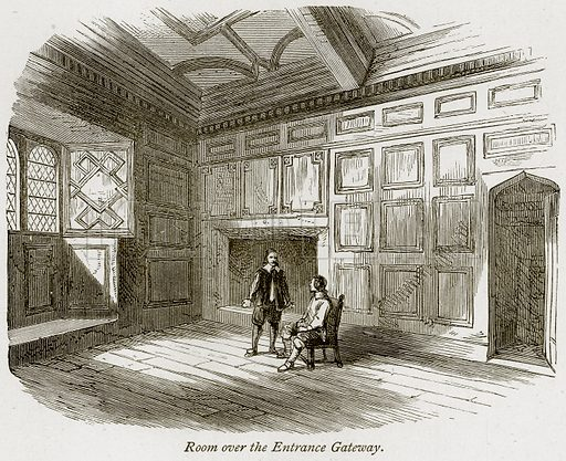 Room over the Entrance Gateway. Illustration from The Stately Homes of England by Llewellynn Jewitt and SC Hall (Virtue, 1877).