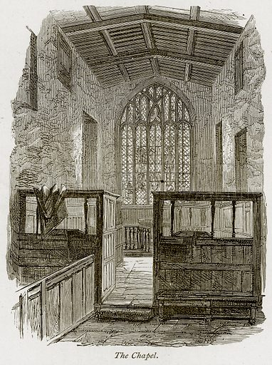 The Chapel. Illustration from The Stately Homes of England by Llewellynn Jewitt and SC Hall (Virtue, 1877).