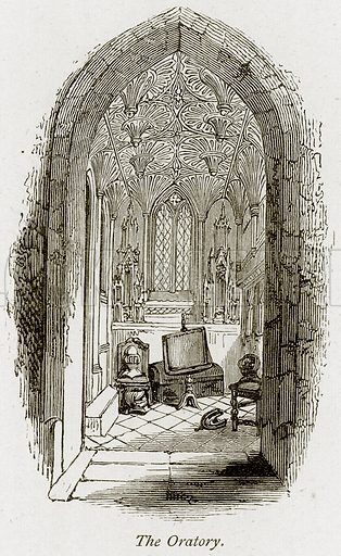 The Oratory. Illustration from The Stately Homes of England by Llewellynn Jewitt and SC Hall (Virtue, 1877).