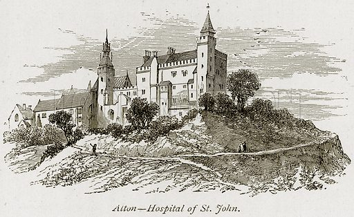 Alton – Hospital of St John. Illustration from The Stately Homes of England by Llewellynn Jewitt and SC Hall (Virtue, 1877).