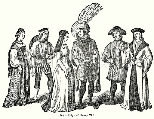 Reign of Henry VII. Illustration for Knight's Pictorial Gallery of Arts (London Printing and Publishing, c 1860).