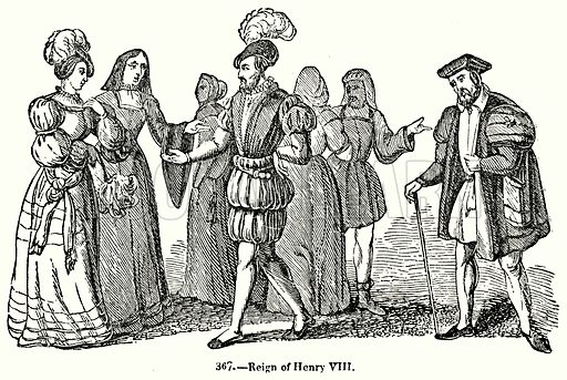Reign of Henry VIII. Illustration for Knight's Pictorial Gallery of Arts (London Printing and Publishing, c 1860).