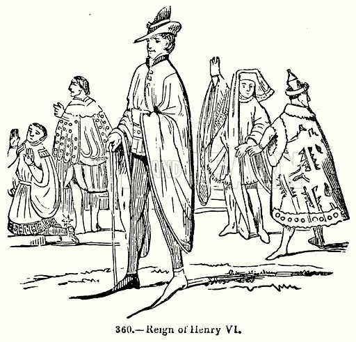 Reign of Henry VI. Illustration for Knight's Pictorial Gallery of Arts (London Printing and Publishing, c 1860).