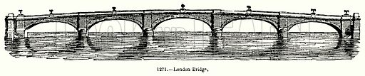 London Bridge. Illustration for Knight's Pictorial Gallery of Arts (London Printing and Publishing, c 1860).