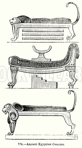 Ancient Egyptian Couches Stock Image