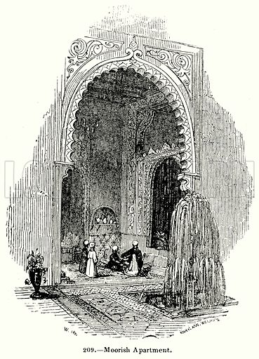 Moorish Apartment. Illustration for Knight's Pictorial Gallery of Arts (London Printing and Publishing, c 1860).