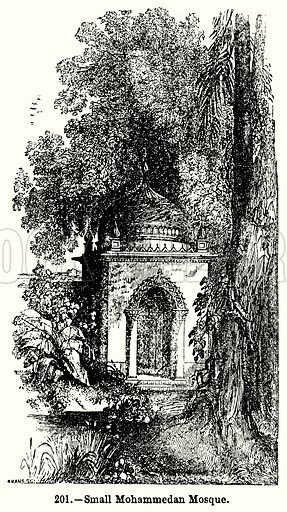 Small Mohammedan Mosque. Illustration for Knight's Pictorial Gallery of Arts (London Printing and Publishing, c 1860).