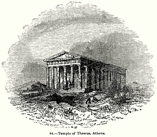 Temple of Theseus, Athens. Illustration for Knight's Pictorial Gallery of Arts (London Printing and Publishing, c 1860).