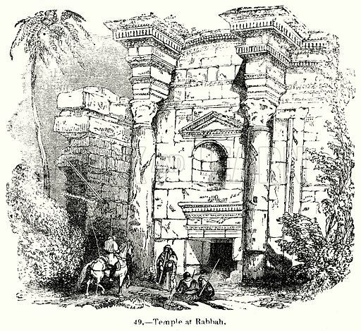 Temple at Rabbah. Illustration for Knight's Pictorial Gallery of Arts (London Printing and Publishing, c 1860).