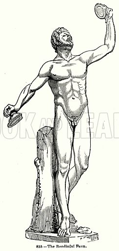 The Rondinini Faun. Illustration for Knight's Pictorial Gallery of Arts (London Printing and Publishing, c 1860).