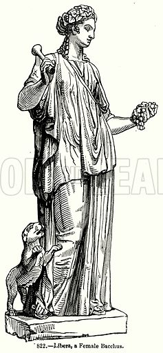 Libera, a Female Bacchus. Illustration for Knight's Pictorial Gallery of Arts (London Printing and Publishing, c 1860).