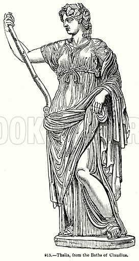 Thalila, from the Baths of Claudius. Illustration for Knight's Pictorial Gallery of Arts (London Printing and Publishing, c 1860).