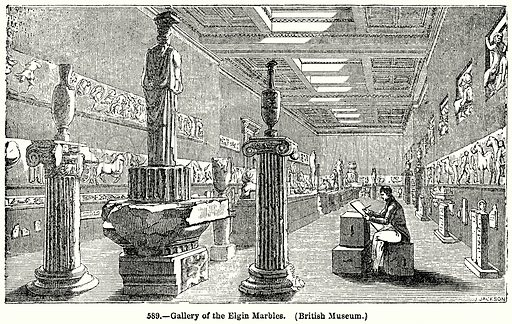 Gallery of the Elgin Marbles. (British Museum.) Illustration for Knight's Pictorial Gallery of Arts (London Printing and Publishing, c 1860).