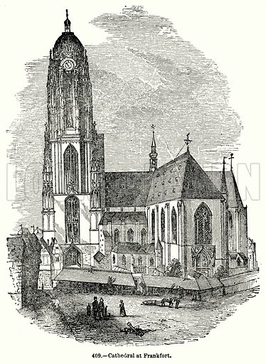 Cathedral at Frankfort. Illustration for Knight's Pictorial Gallery of Arts (London Printing and Publishing, c 1860).