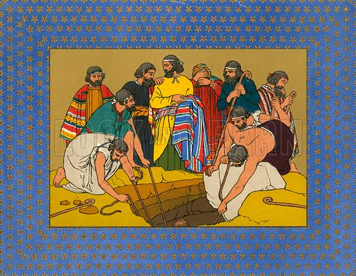 Illustration for The History of Joseph and his Brethren (Day & Son, c 1870).