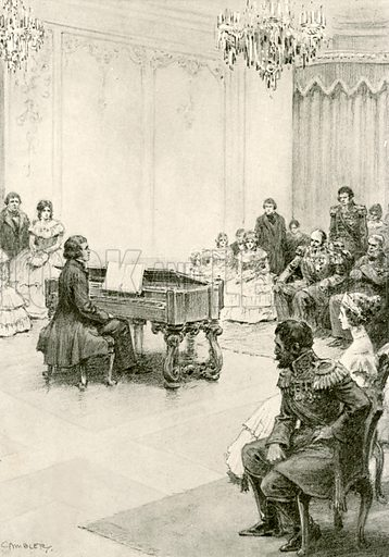 Franz Liszt playing for the Czar of Russia