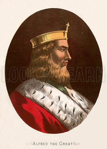 Alfred the Great, picture, image, illustration
