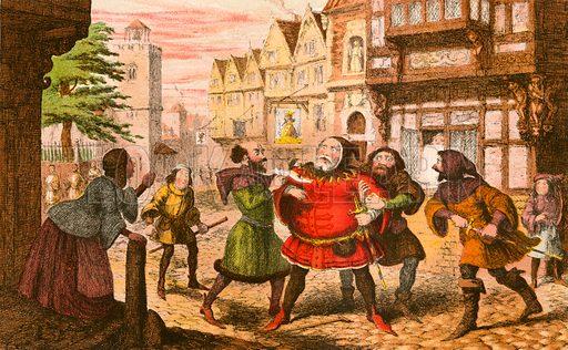 Sir John Falstaff arrested
