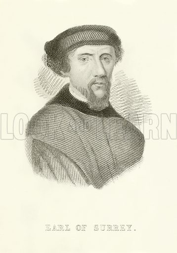 Earl of Surrey. Illustration from Old England's Worthies by Lord Brougham (James Sangster, 1860).