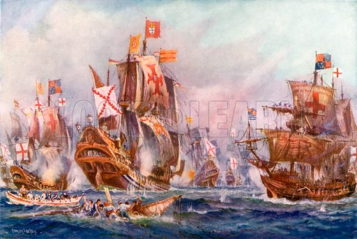 picture, Charles de Lacy, artist, painter, illustrator, ships, boats