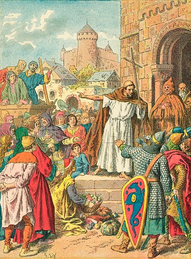 Peter the Hermit preaching the Crusade