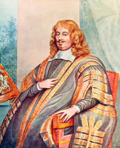 Edward Hyde, Earl of Clarendon. Illustration from Parliament Past and Present by Arnold Wright and Philip Smith (Hutchinson, c 1900).