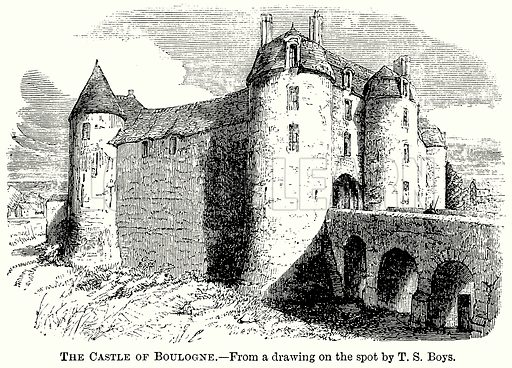 The Castle of Boulogne. Illustration from The Comprehensive History of England (Gresham Publishing, 1902).