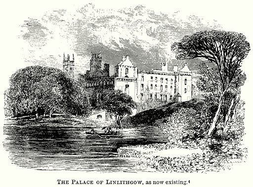 The Palace of Linlithgow, as now Existing. Illustration from The Comprehensive History of England (Gresham Publishing, 1902).